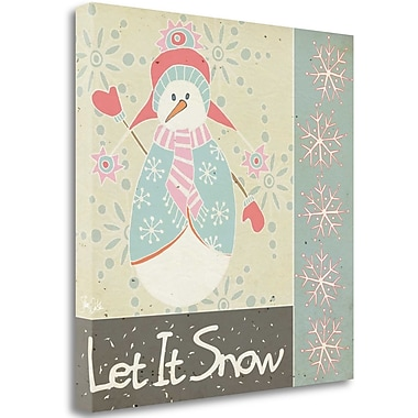 Tangletown Fine Art 'Let It Snow Snowman' Graphic Art Print on Canvas; 35'' H x 35'' W