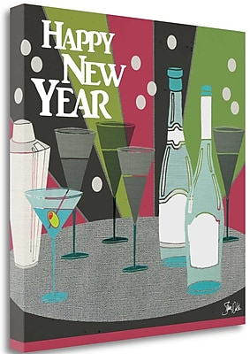 Tangletown Fine Art 'New Years I' Graphic Art Print on Canvas; 18'' H x 18'' W