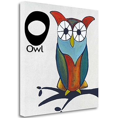 Tangletown Fine Art O - Owl' Graphic Art Print on Canvas; 18'' H x 18'' W