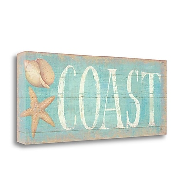 Tangletown Fine Art 'Pastel Coast' Textual Art on Wrapped Canvas; 12'' H x 28'' W