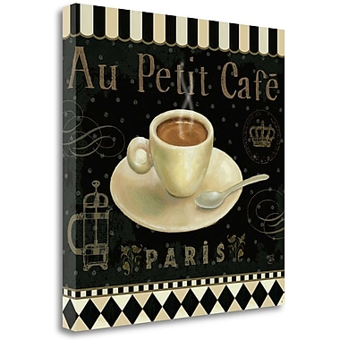 Tangletown Fine Art 'Cafe Parisien II' Vintage Advertisement on Wrapped Canvas; 24'' H x 24'' W
