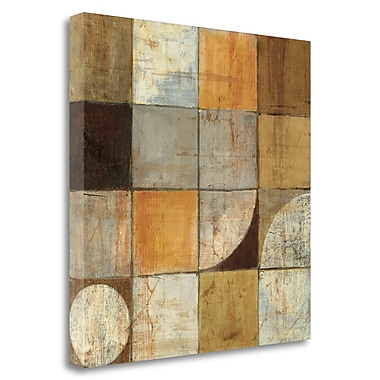 Tangletown Fine Art 'Tango Square I Neutral' Graphic Art Print on Wrapped Canvas; 20'' H x 20'' W