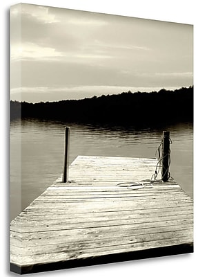 Tangletown Fine Art 'Twilight Dock III' Photographic Print on Wrapped Canvas; 24'' H x 24'' W