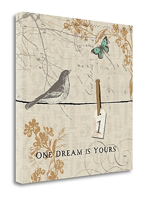 Tangletown Fine Art 'Words that Count I' Graphic Art Print on Wrapped Canvas; 24'' H x 24'' W