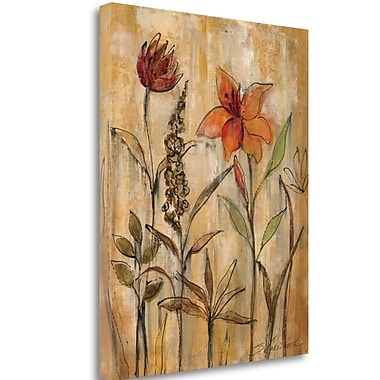 Tangletown Fine Art 'Aquarelle Garden II' Print on Wrapped Canvas; 24'' H x 20'' W