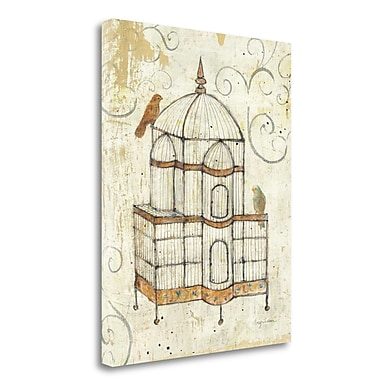 Tangletown Fine Art 'Bird Cage I' Print on Wrapped Canvas; 23'' H x 18'' W