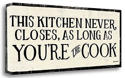 Tangletown Fine Art 'You re the Cook' Textual Art on Wrapped Canvas; 16'' H x 40'' W