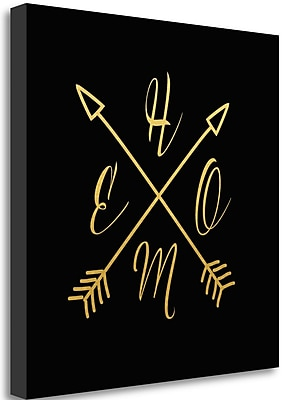 Tangletown Fine Art 'Home Arrows' Textual Art on Canvas; 26'' H x 26'' W