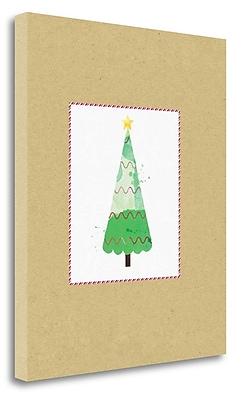 Tangletown Fine Art 'Tree on Kraft 1' Graphic Art Print on Wrapped Canvas; 24'' H x 20'' W