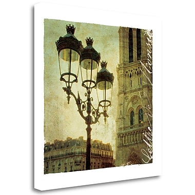 Tangletown Fine Art 'Golden Age of Paris IV' Graphic Art Print on Wrapped Canvas; 20'' H x 20'' W