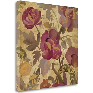 Tangletown Fine Art 'Shimmering Garden II' Graphic Art Print on Wrapped Canvas; 35'' H x 35'' W