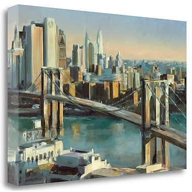 Tangletown Fine Art 'Into Manhattan 36c24' Print on Wrapped Canvas; 16'' H x 24'' W