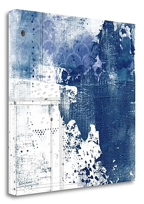 Tangletown Fine Art 'Navy Abstract I' Graphic Art Print on Canvas; 35'' H x 35'' W