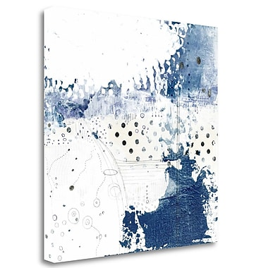Tangletown Fine Art 'Navy Abstract III' Graphic Art Print on Canvas; 35'' H x 35'' W