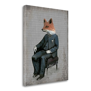Tangletown Fine Art 'Mr. Red Tail' Graphic Art Print on Wrapped Canvas; 36'' H x 28'' W