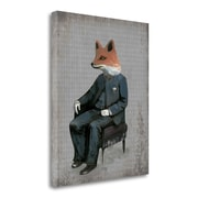 Tangletown Fine Art 'Mr. Red Tail' Graphic Art Print on Wrapped Canvas; 27'' H x 21'' W