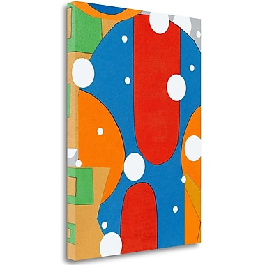 Tangletown Fine Art 'Moad Abstract II' Graphic Art Print on Canvas; 38'' H x 28'' W