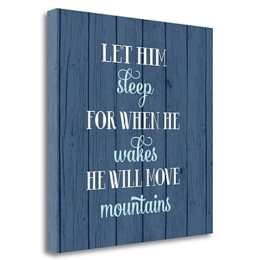 Tangletown Fine Art 'Let Him Sleep' Textual Art on Wrapped Canvas; 26'' H x 26'' W