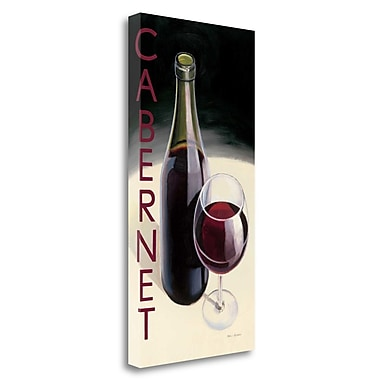 Tangletown Fine Art 'Cabernet' Graphic Art Print on Wrapped Canvas; 29'' H x 15'' W