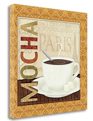 Tangletown Fine Art 'Coffee Cup II' Vintage Advertisement on Wrapped Canvas; 24'' H x 24'' W
