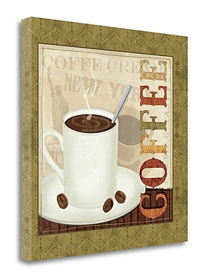 Tangletown Fine Art 'Coffee Cup III' Vintage Advertisement on Wrapped Canvas; 24'' H x 24'' W