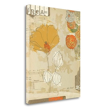 Tangletown Fine Art 'Collaged Botanicals II' Graphic Art Print on Wrapped Canvas; 23'' H x 18'' W