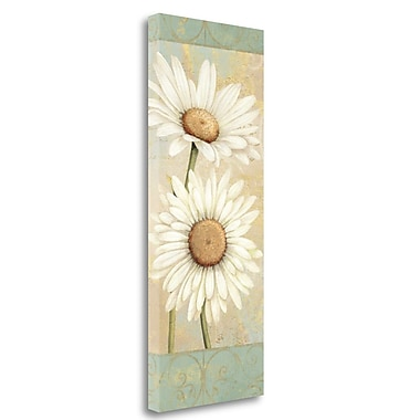 Tangletown Fine Art 'Beautiful Daisies I' Graphic Art Print on Wrapped Canvas; 40'' H x 16'' W
