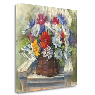 Tangletown Fine Art 'Adirondack Bouquet' Print on Wrapped Canvas; 24'' H x 24'' W