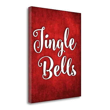 Tangletown Fine Art 'Jingle Bells' Textual Art on Wrapped Canvas; 28'' H x 22'' W