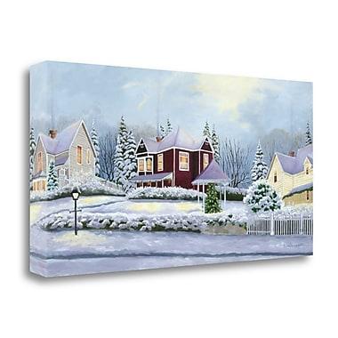 Tangletown Fine Art Winter Street' Print on Canvas; 21'' H x 43'' W