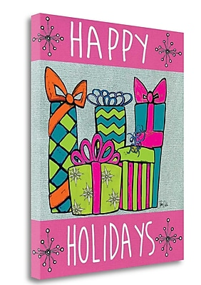 Tangletown Fine Art 'Happy Holidays' Graphic Art Print on Wrapped Canvas; 24'' H x 20'' W