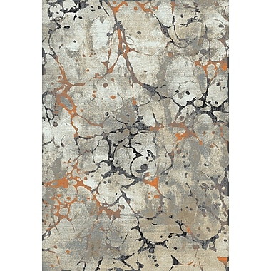 Williston Forge Cece Gray/Taupe/Burnt Orange Area Rug; 7'10'' x 9'10''