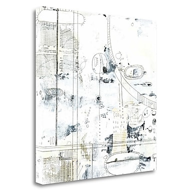 Tangletown Fine Art 'Neutral Abstract' Graphic Art Print on Canvas; 35'' H x 35'' W