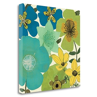 Tangletown Fine Art 'Garden Brights Cool III' Graphic Art Print on Wrapped Canvas; 24'' H x 24'' W