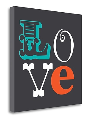 Tangletown Fine Art 'Love' Textual Art on Canvas; 20'' H x 20'' W WYF078281589167