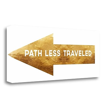 Tangletown Fine Art 'Path Less Traveled' Textual Art on Wrapped Canvas; 12'' H x 28'' W
