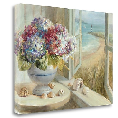 Tangletown Fine Art 'Coastal Hydrangea' Print on Wrapped Canvas; 17'' H x 23'' W