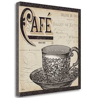 Tangletown Fine Art 'Antique Cafe II w/ Border' Vintage Advertisement on Wrapped Canvas