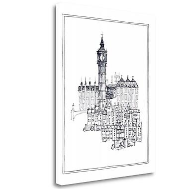 Tangletown Fine Art 'Big Ben' Print on Wrapped Canvas; 23'' H x 18'' W