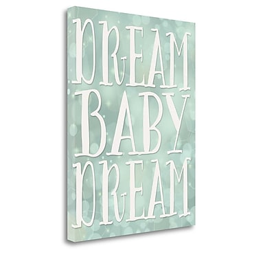 Tangletown Fine Art 'Dream Ba Dream' Textual Art on Wrapped Canvas; 20'' H x 16'' W