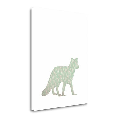 Tangletown Fine Art 'Floral Fox' Graphic Art Print on Canvas; 30'' H x 24'' W