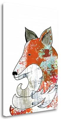 Tangletown Fine Art 'Fox' Graphic Art Print on Canvas; 29'' H x 21'' W