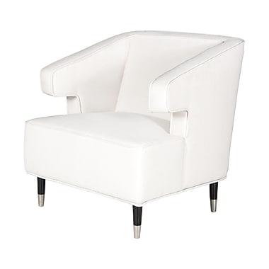 WorldsAway Arm Chair; White Linen