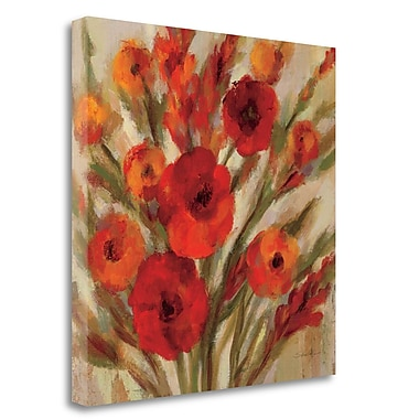 Tangletown Fine Art 'Crimson Blooms II' Print on Wrapped Canvas; 20'' H x 20'' W