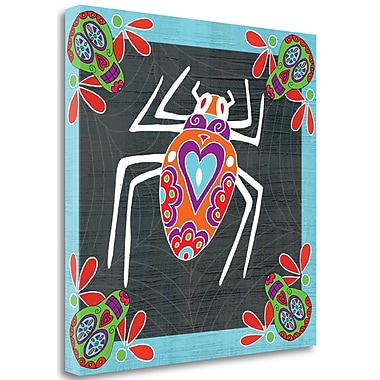 Tangletown Fine Art 'Day of The Dead Spider IV' Graphic Art Print on Wrapped Canvas; 18'' H x 18'' W