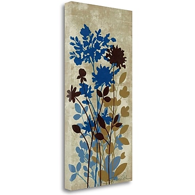 Tangletown Fine Art 'Spring Bouquet II on Tan' Print on Canvas; 34'' H x 17'' W