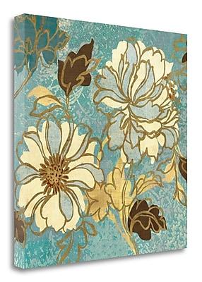 Tangletown Fine Art 'Sophias Flowers I - Blue' Print on Canvas; 25'' H x 25'' W
