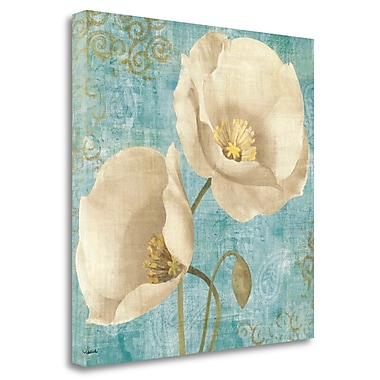 Tangletown Fine Art 'Rich Poppies on Paisley' Print on Wrapped Canvas; 30'' H x 30'' W