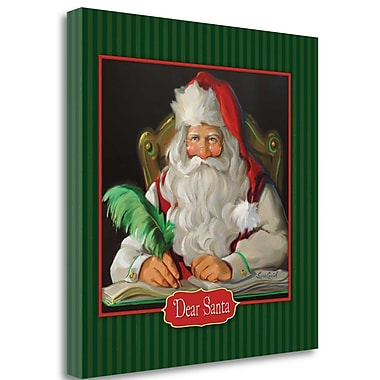 Tangletown Fine Art 'Dear Santa' Graphic Art Print on Wrapped Canvas; 20'' H x 20'' W