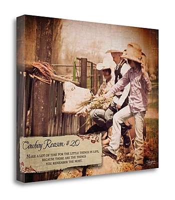 Tangletown Fine Art 'Cowboy Reason 20' Graphic Art Print on Wrapped Canvas; 16'' H x 20'' W